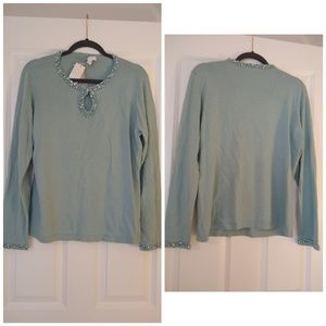 Charter club beaded sweater size Large NEW